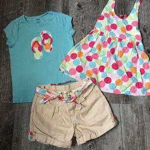 Gymboree Shorts Swing Top T Size 7